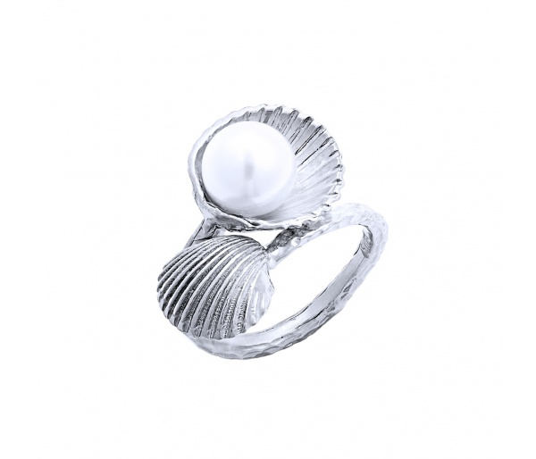 """Pearl in Oyster"" ring"