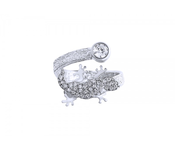 """Shiny Lizard"" ring"