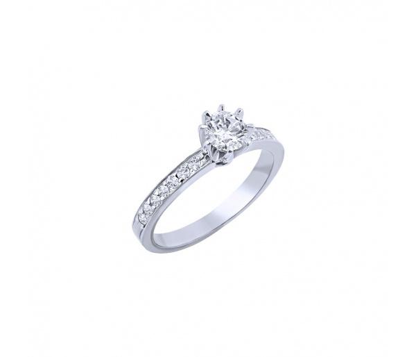 """Ασημένιο δαχτυλίδι """"Delicate"""""""