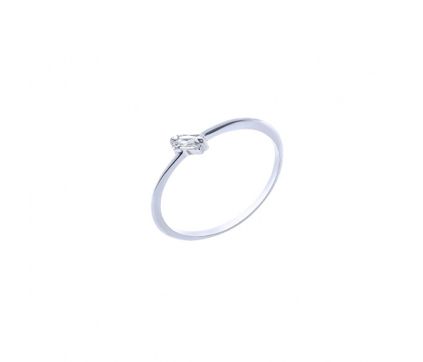 """""""Baguette"""" silver ring"""