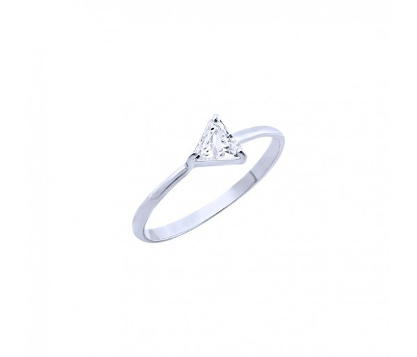 """""""Triangle"""" silver ring"""