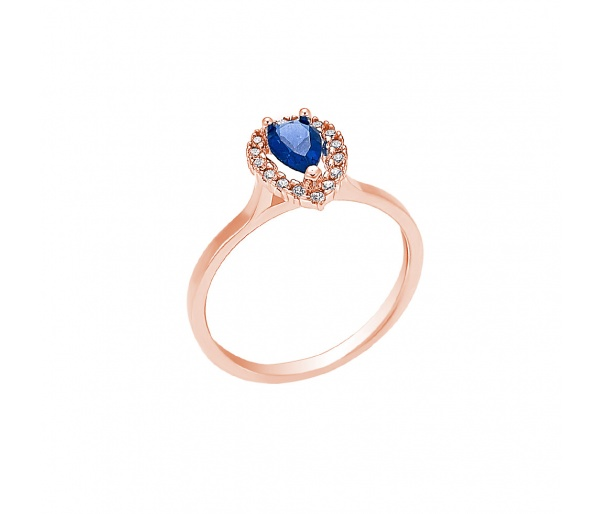"""Teardrop"" gold ring K14"