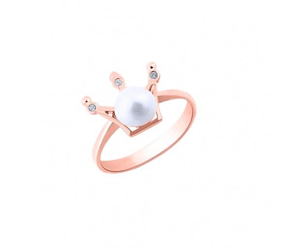 """Ασημένιο δαχτυλίδι """"Pearly Crown"""""""