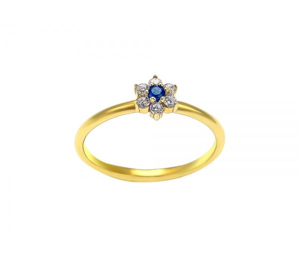 """Δαχτυλίδι """"Μικρό λουλούδι"""" από χρυσό Κ14"""
