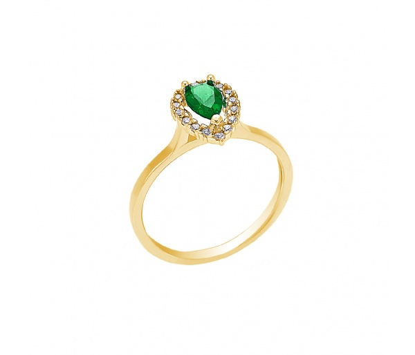 """Teardrop"" gold ring K14"