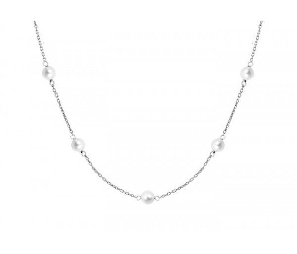 """Pearly Light"" silver anklet"
