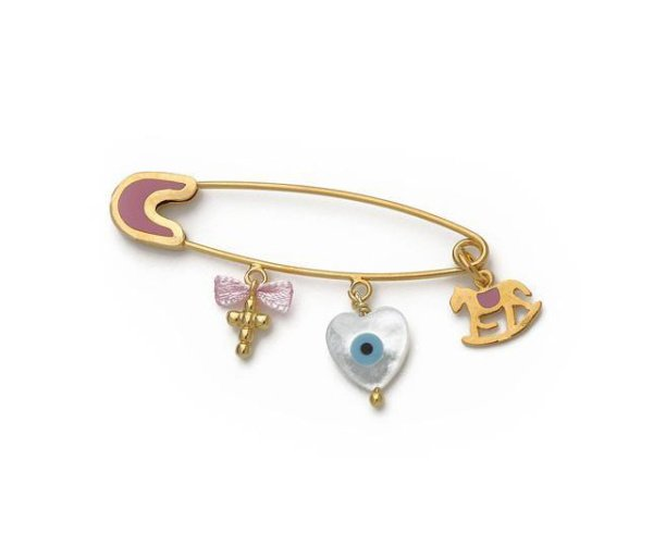 """""""Guarding Charm #3"""" baby safety pin"""