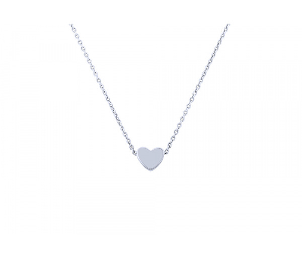 """Festive Heart"" silver necklace"