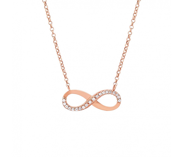 """""""Infinity"""" gold necklace"""