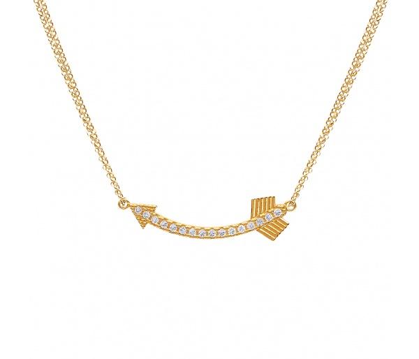 """""""Shiny Arrow"""" necklace"""