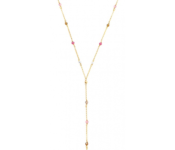 """Rainbow Gems"" necklace"