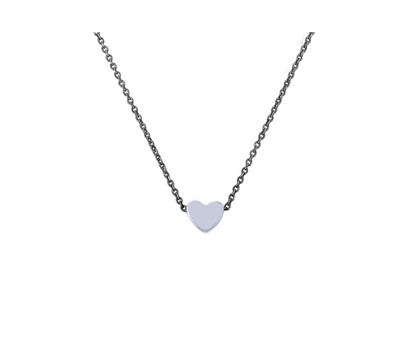 """Festive Heart"" silver necklace"