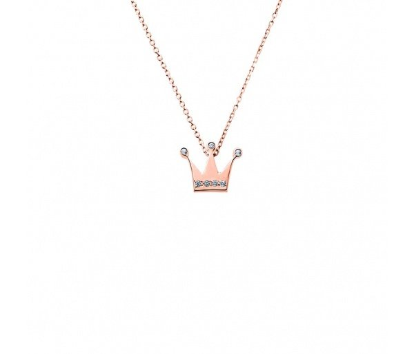 """Tiny Crown"" gold necklace K14"