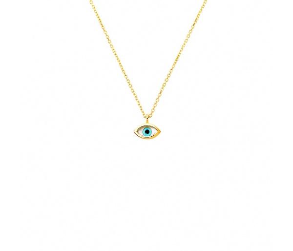 """""""Tiny Eye"""" gold necklace K14"""