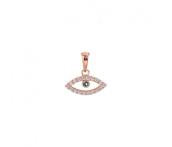 """""""Evil Eye"""" gold pendant"""