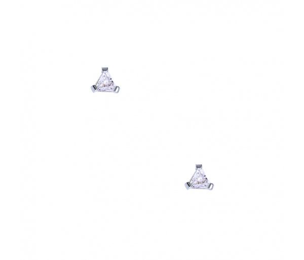 """""""Triangle"""" silver earrings"""