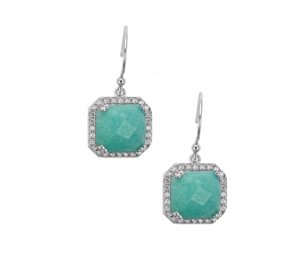 """Square Jades"" earrings"