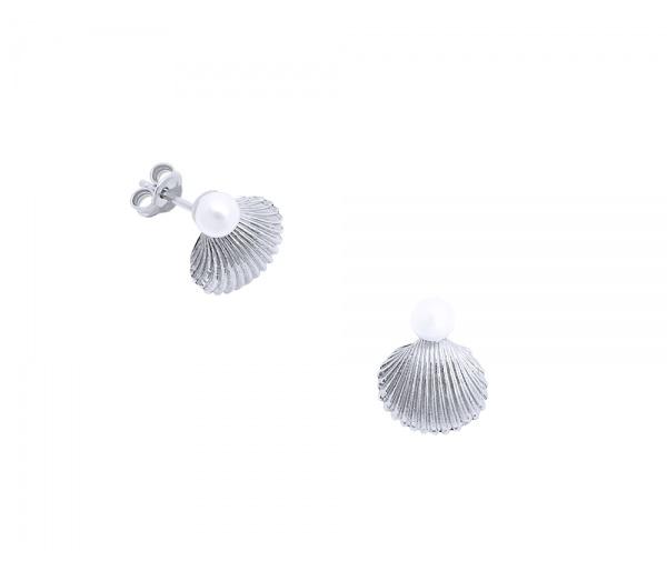 """""""Pearl in Oyster"""" earrings"""