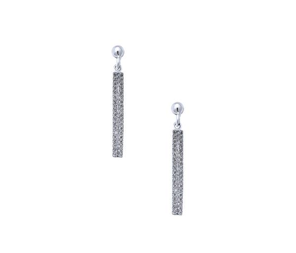 """""""Mystifying"""" silver earrings"""
