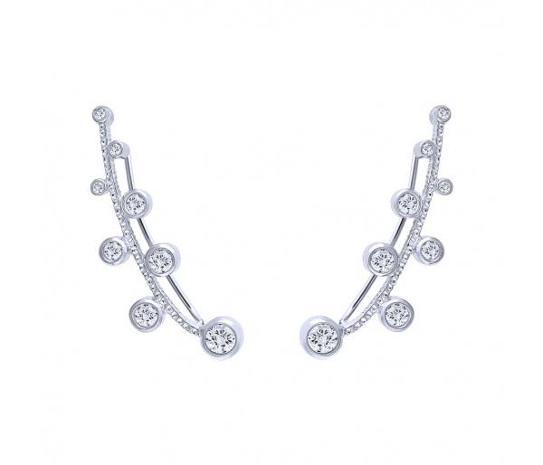 """Ασημένια σκουλαρίκια climbers """"Jasmine"""""""