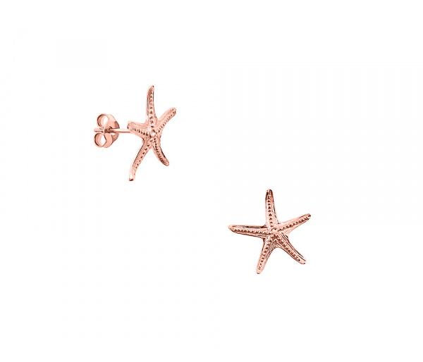"""Starfish #2"" gold earrings"