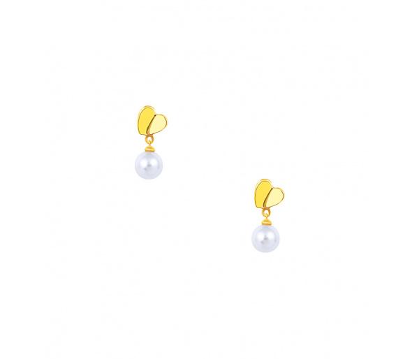 """""""Pearl & Heart"""" silver earrings"""
