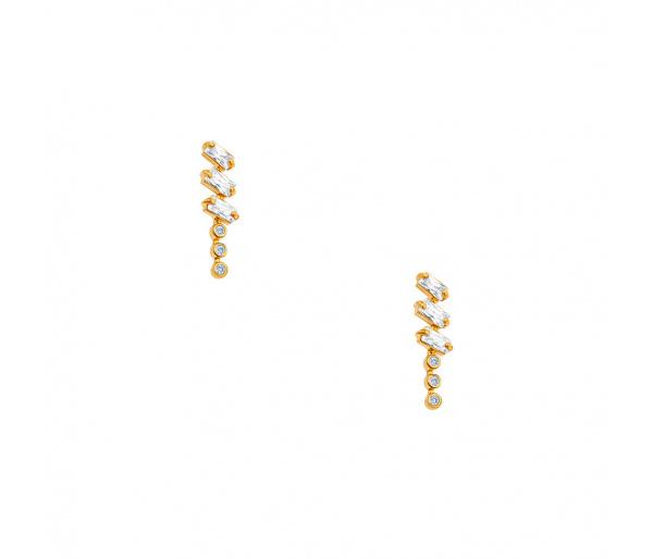 """""""Domino"""" silver earrings"""