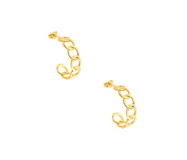 """Wreath #1"" silver hoop earrings"