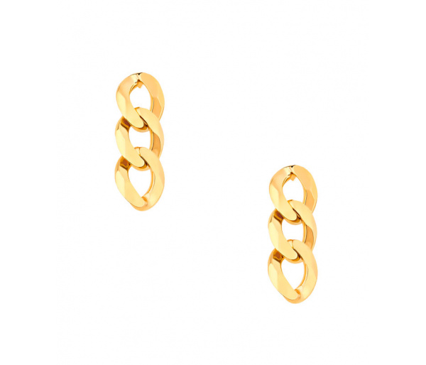 """""""Chain"""" silver earrings"""