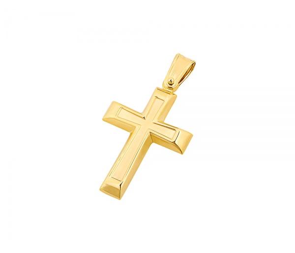 Χρυσός ανδρικός σταυρός Κ14, T02719