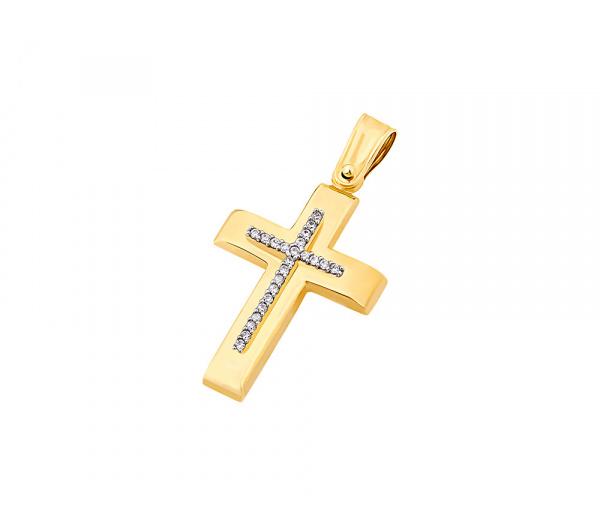 Χρυσός γυναικείος σταυρός Κ14, T04019