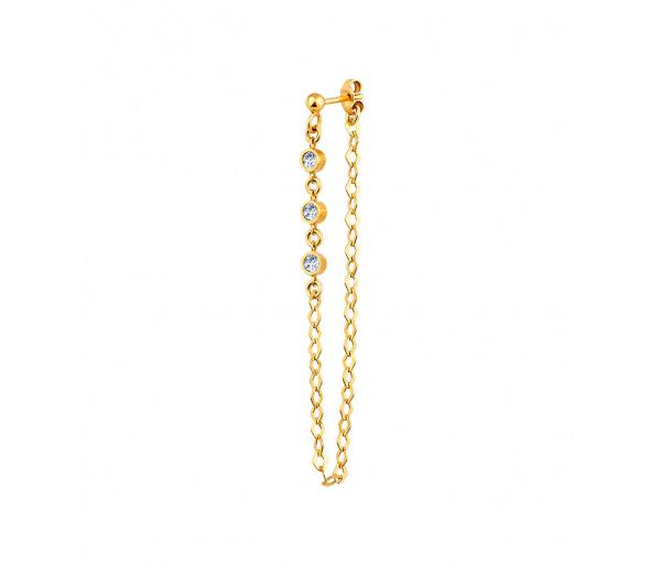 """""""Helix"""" single silver earring"""