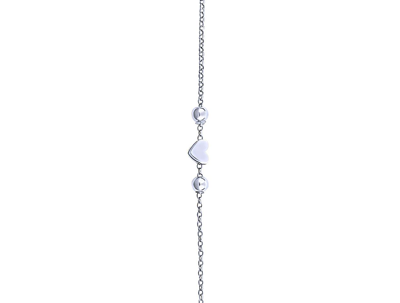 "Image of """"Festive Heart"" silver bracelet"""