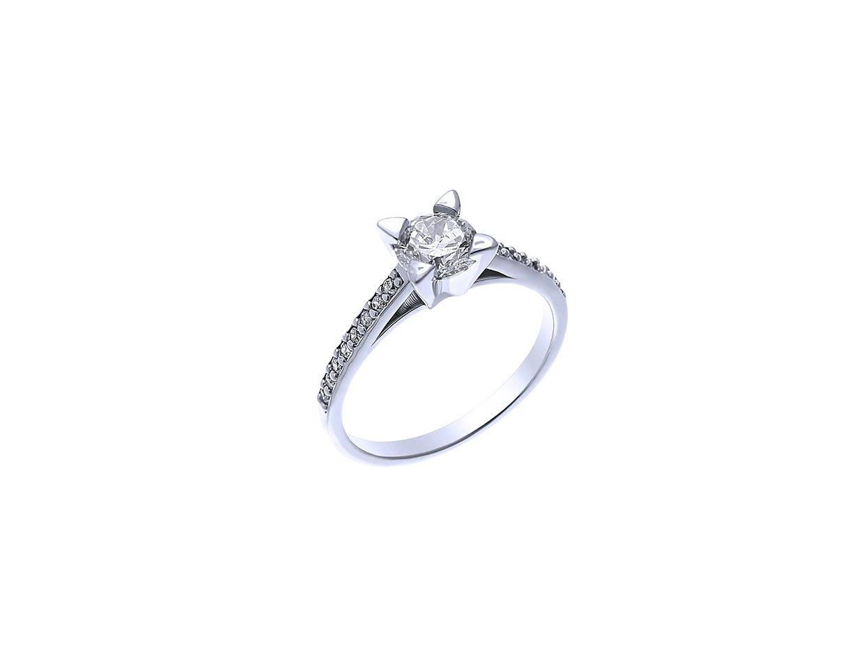 """Image of """"""""Chivalry"""" silver ring"""""""