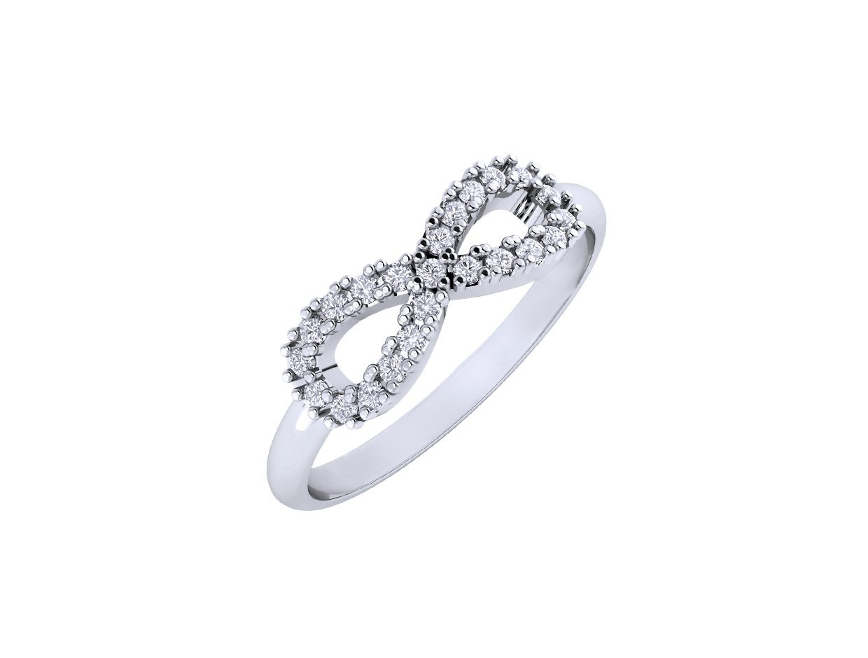 "Image of """"Infinite Stars"" silver ring"""