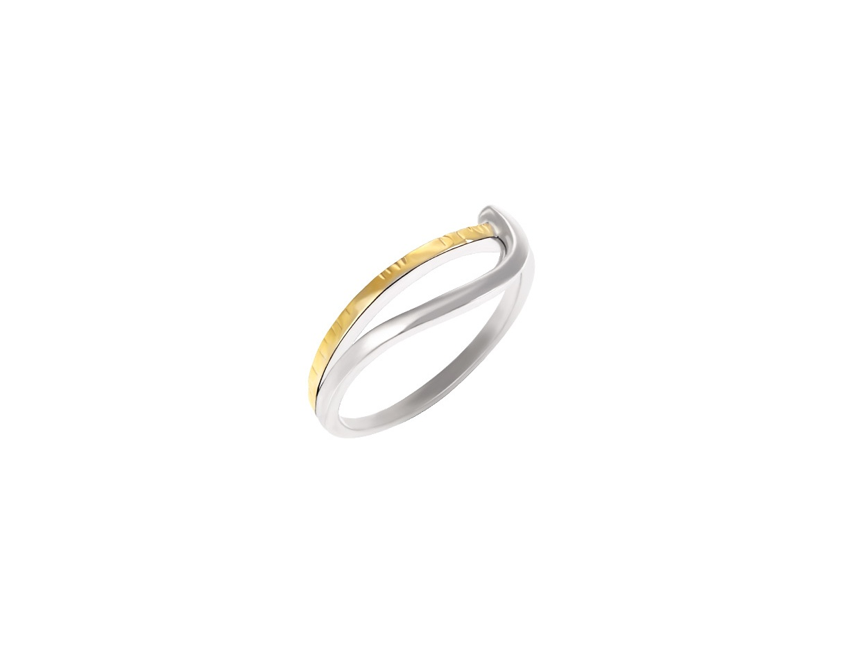 """Image of """"Silver 925 ring whith goldplated details"""""""