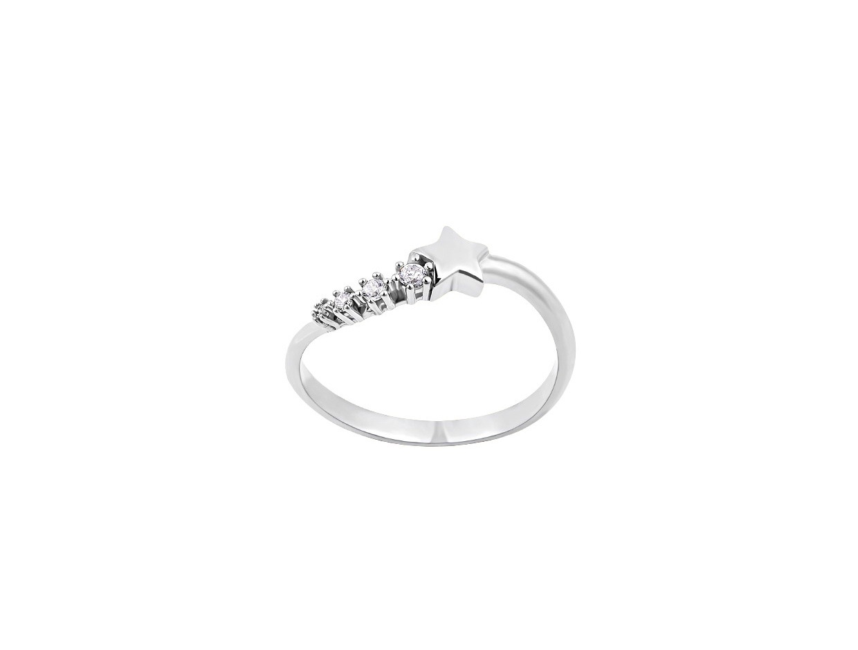 "Image of """"Lucky Star"" silver ring"""