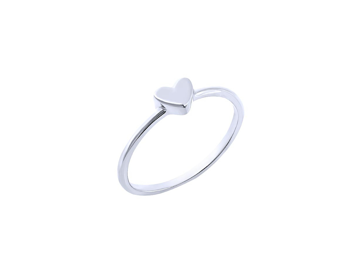 "Image of """"Festive Heart"" silver ring"""