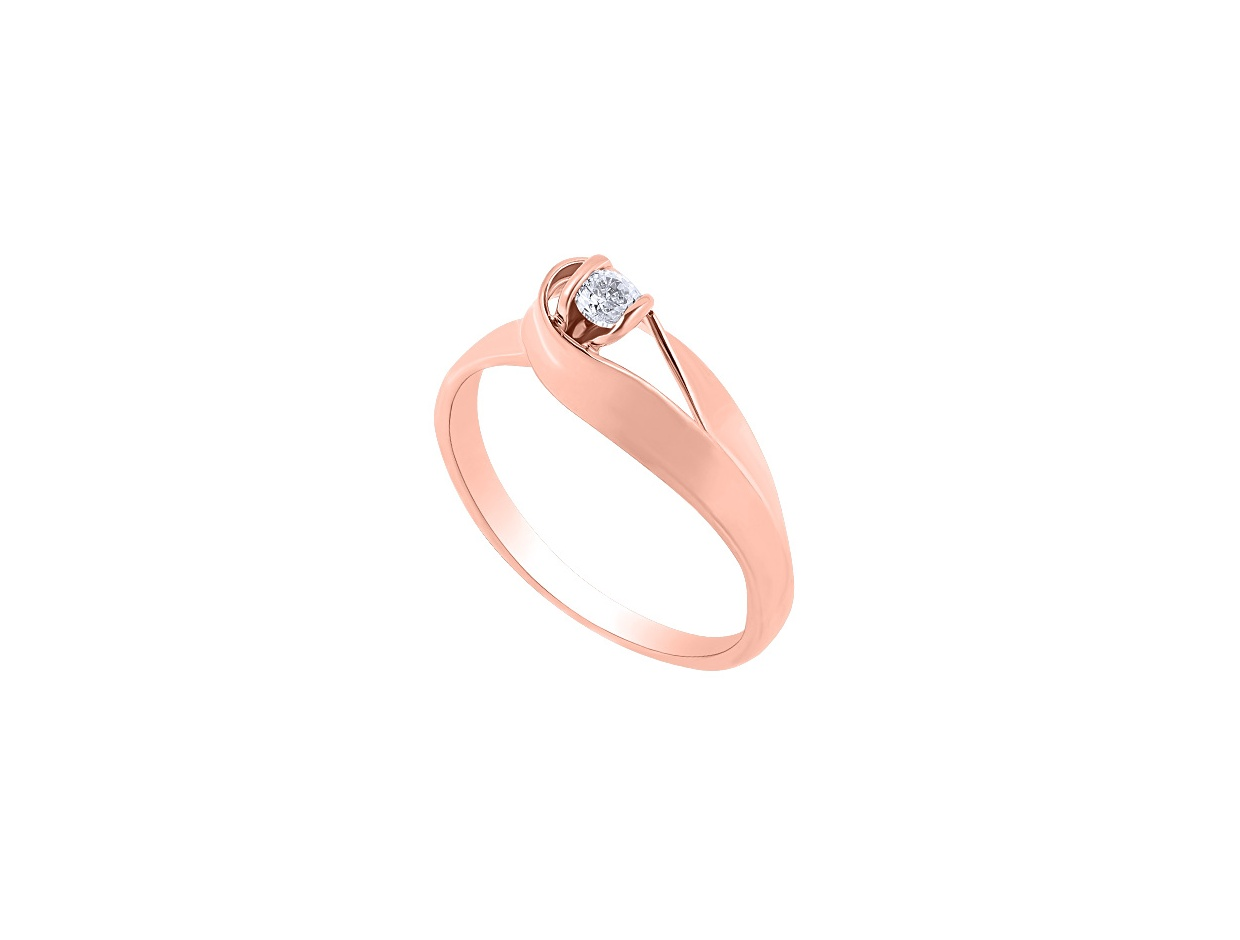 """Image of """"""""Lonely Star"""" rose gold ring K9"""""""