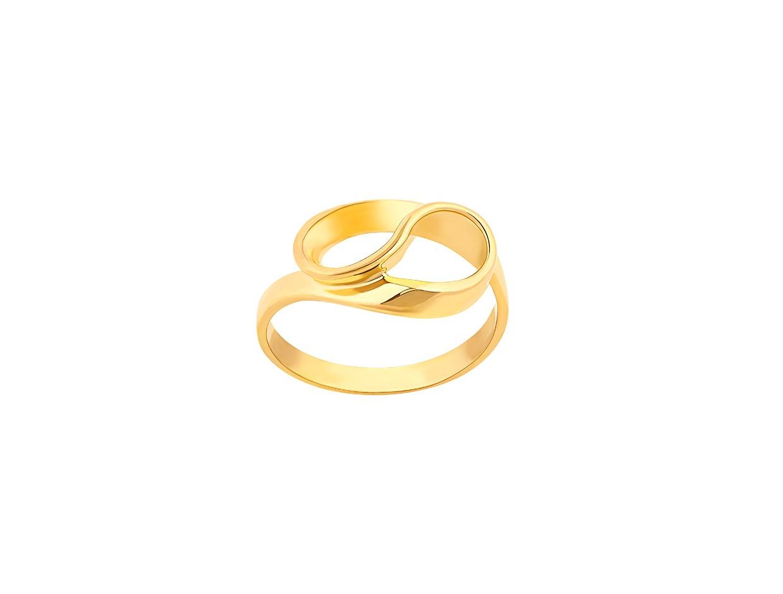 """Εικόνα του """"Ασημένιο δαχτυλίδι """"Infinito"""" επίχρυσο"""""""