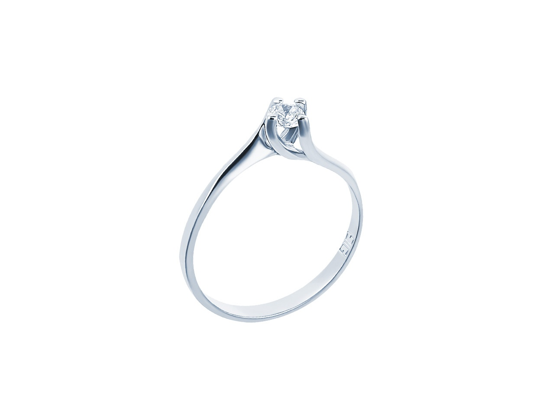 "Image of """"Eternity Premium 031"" white gold engagement ring K18 with VS2 diamond"""