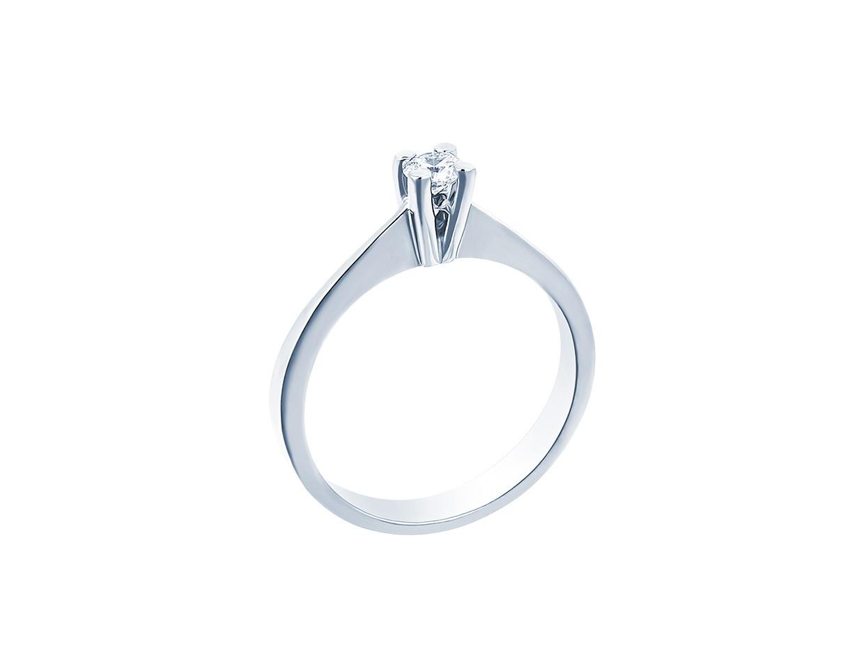 "Image of """"Eternity Plus 012"" white gold engagement ring K14"""