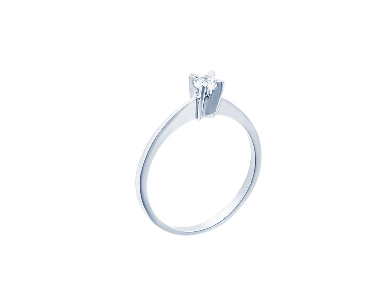 "Image of """"Eternity Plus 028"" white gold engagement ring K14"""