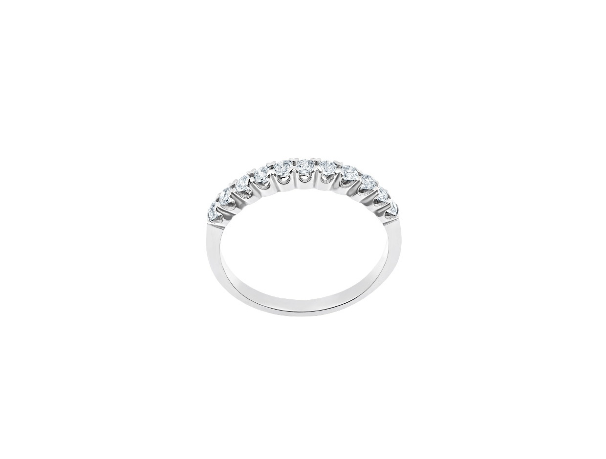 """Image of """"""""Magnificent"""" white gold ring K14"""""""
