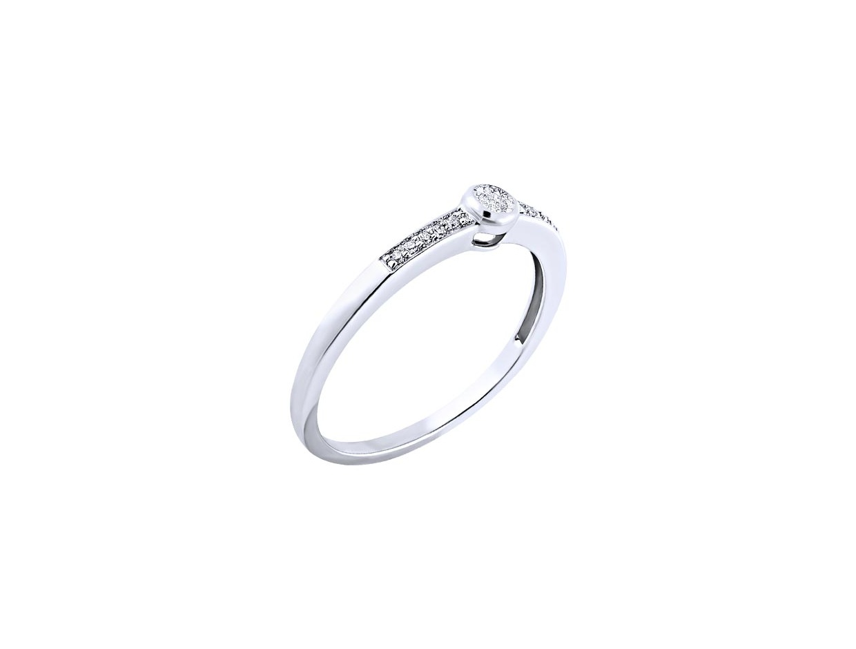 """Image of """"White gold ring Κ14, BRS5860-005"""""""