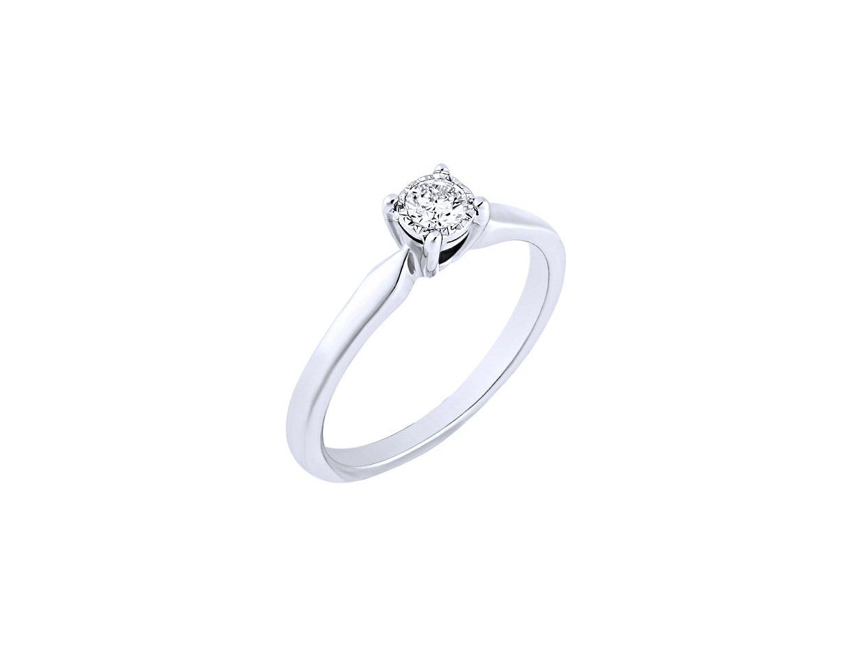 "Image of ""White gold ring Κ14 with diamond, BRI23571-015"""