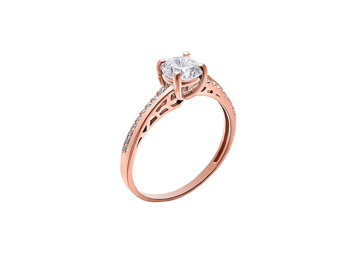 "Image of """"Grandeur"" rose gold ring K14"""