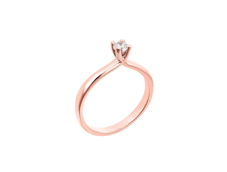 "Image of """"Eternity Premium 043"" rose gold engagement ring K18 with VS2 diamond"""