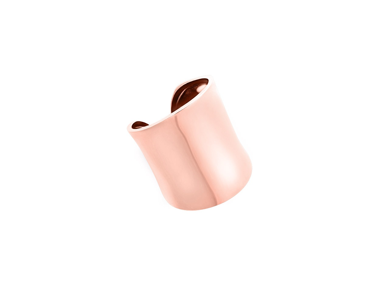 """Image of """"""""Powerful"""" silver ring rose gold plated"""""""