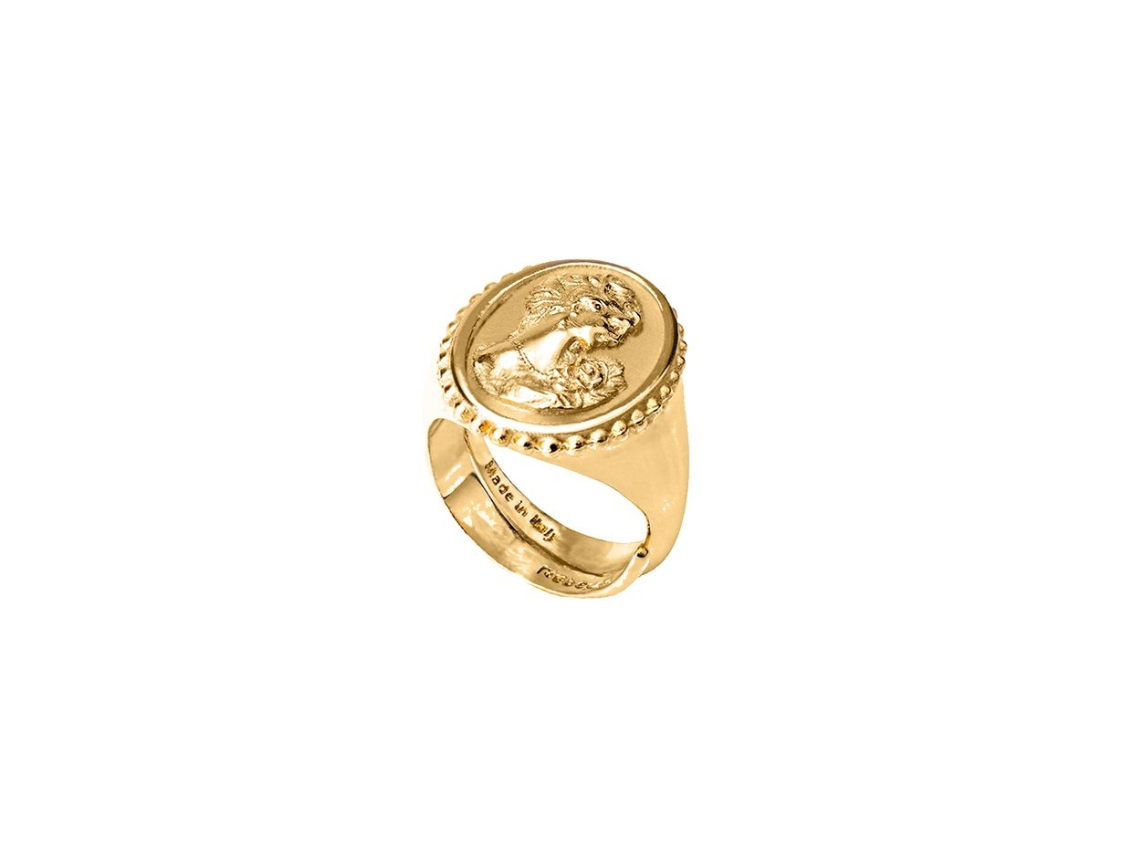 """Image of """"REBECCA Madama ring in gold stainless steel, BMMABO03"""""""